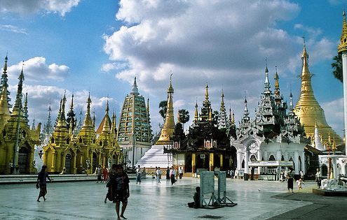 birmanie temple schwedagon pagode