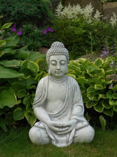 Bouddha en Pierre en méditation