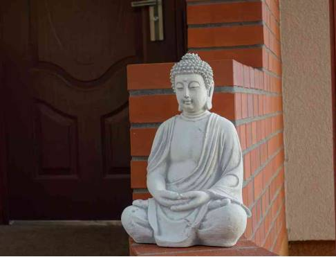 Bouddha en Pierre Jardin ou Veranda
