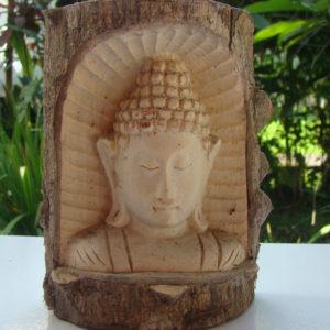 Bouddha en bois de crocodile